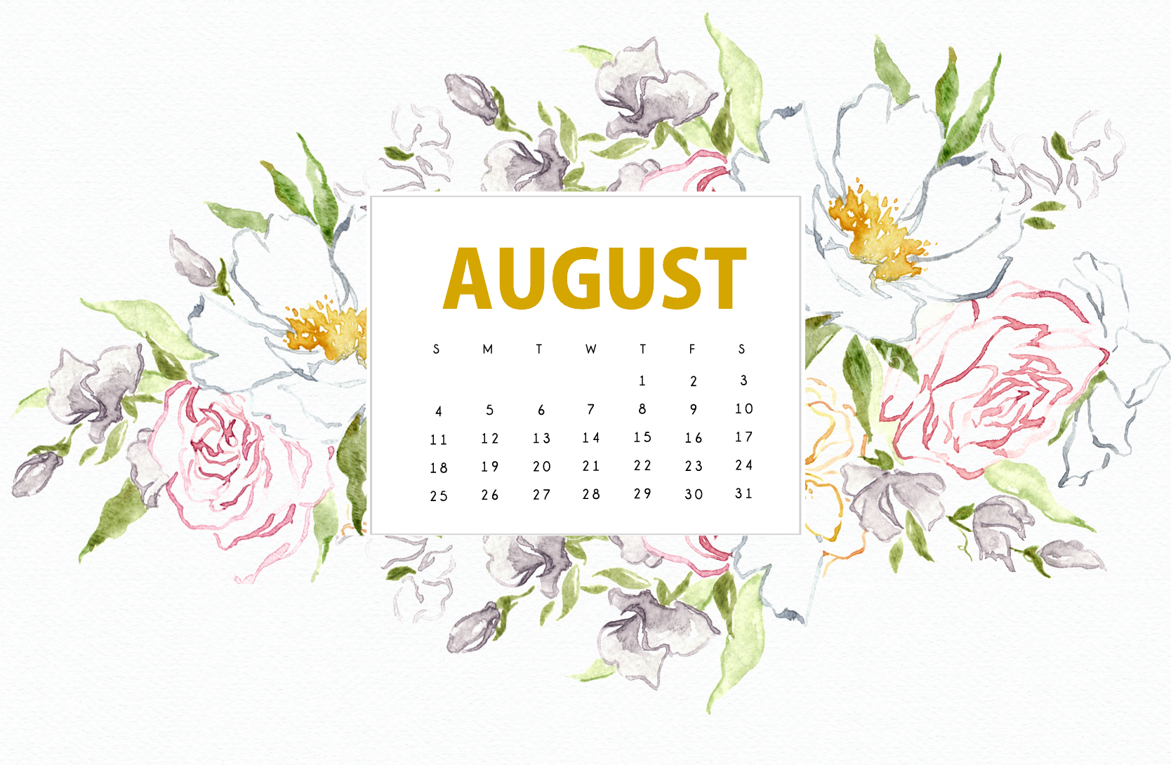 August 2019 Background Screensaver