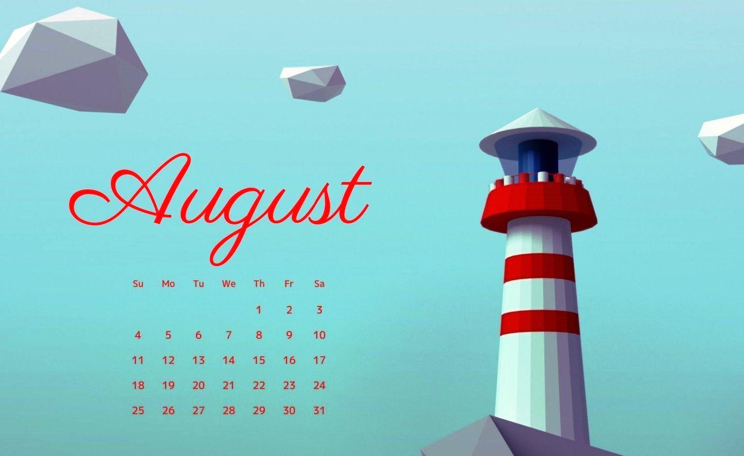 August 2019 Calendar Wallpaper for Desktop