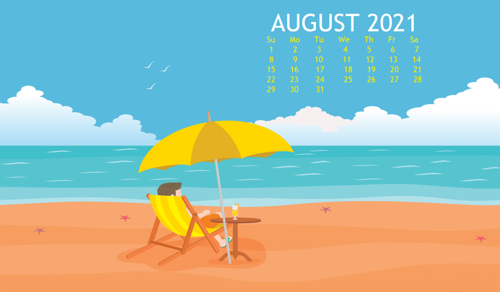 August 2021 Calendar Wallpaper For Laptop