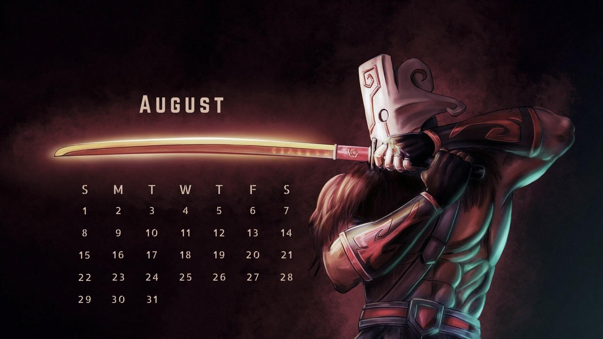 August 2021 Calendar Wallpaper for Desktop