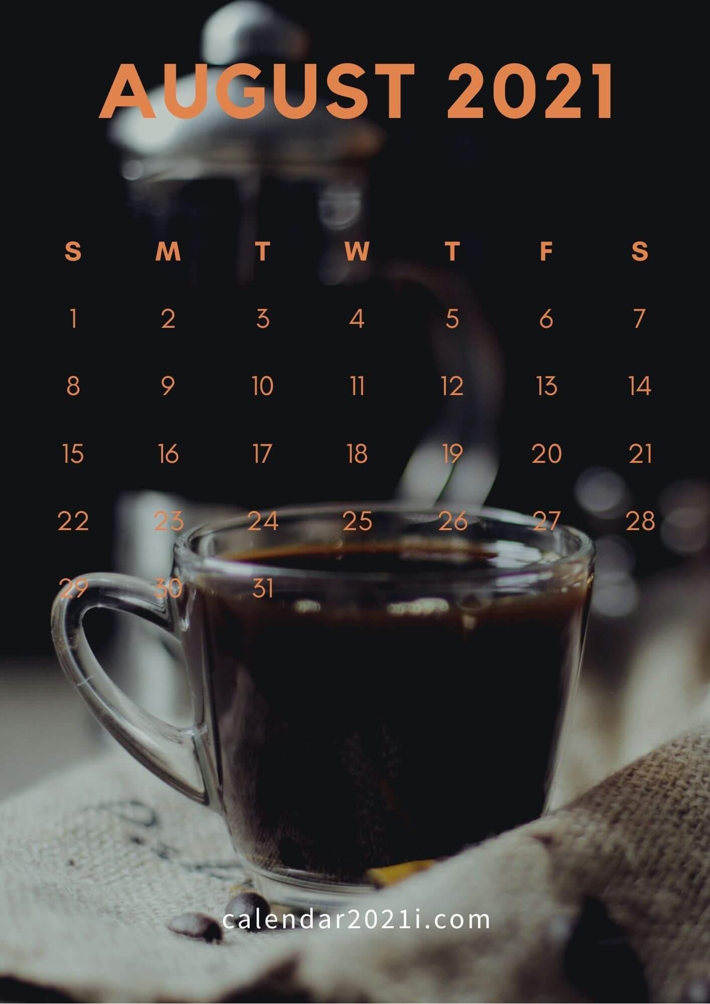 August 2021 Calendar Wallpaper