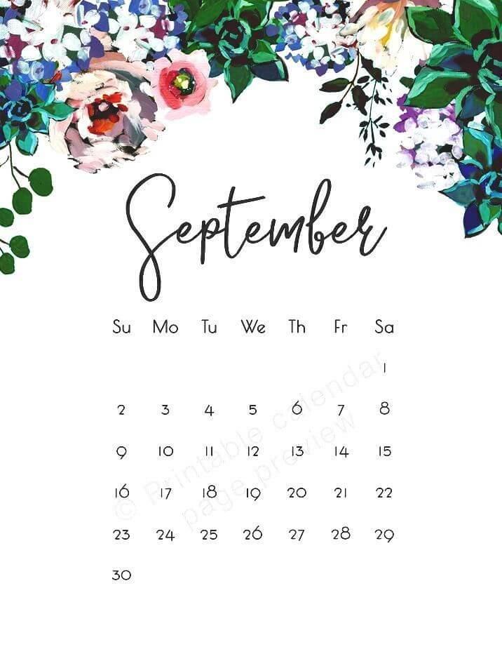 Cute September 2020 Calendar Wallpaper