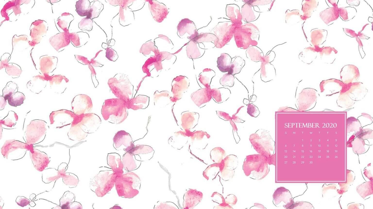 Floral September 2020 Desktop Wallpaper