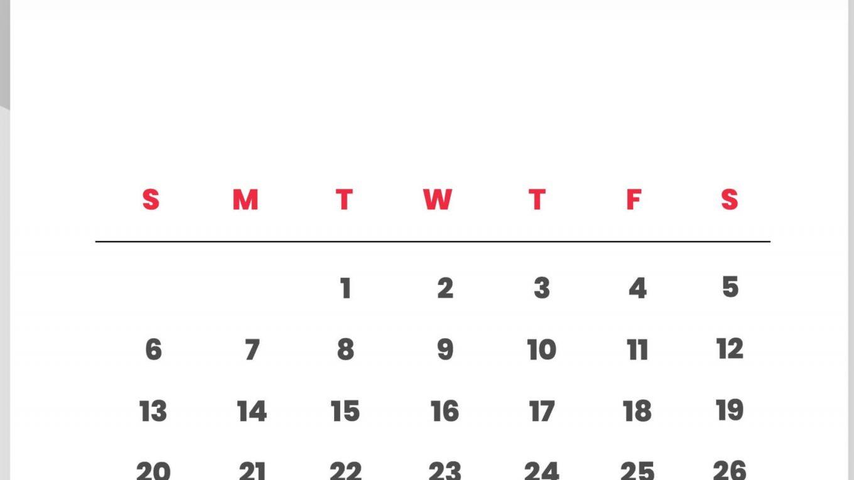 Print September 2020 Wall Calendar