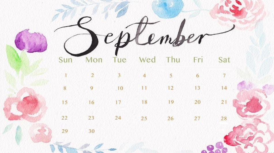 September 2019 Calendar Desktop Wallpaper