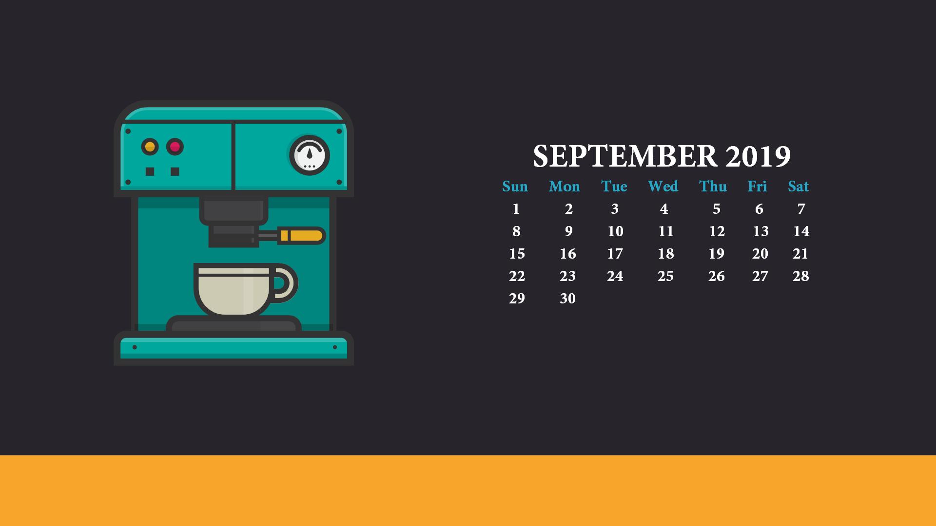September 2019 Desktop Wallpaper With Calendar