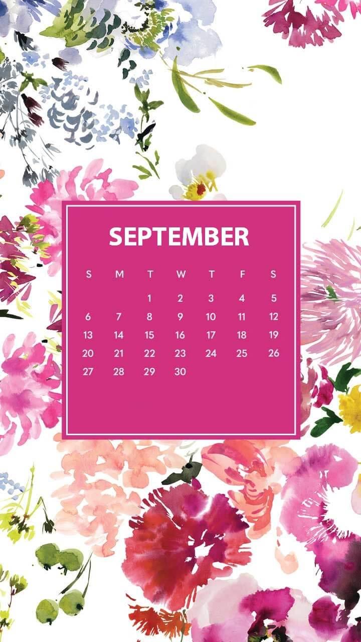 iPhone September 2020 Floral Wallpaper