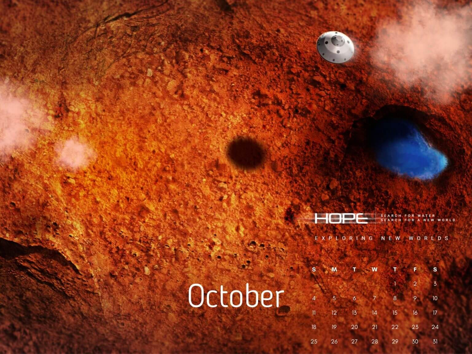 Free Download October 2020 Calendar Desktop Wallpaper
