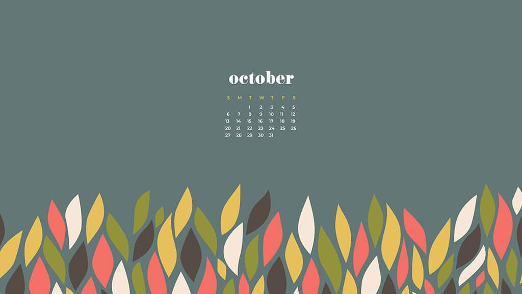October 2020 Screensaver Wallpaper