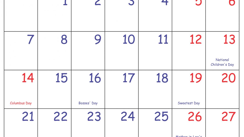 Print October 2019 Calendar NZ with Holidays