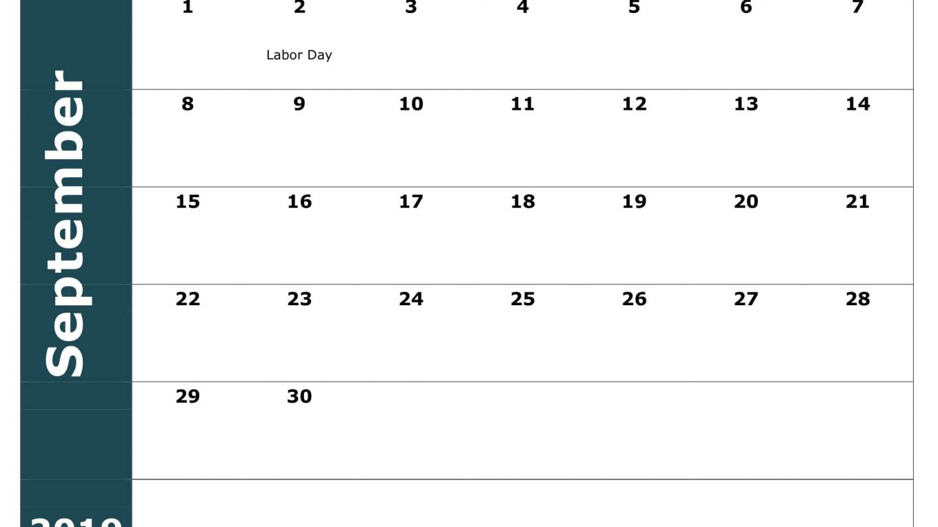 September 2019 USA Calendar With Holidays