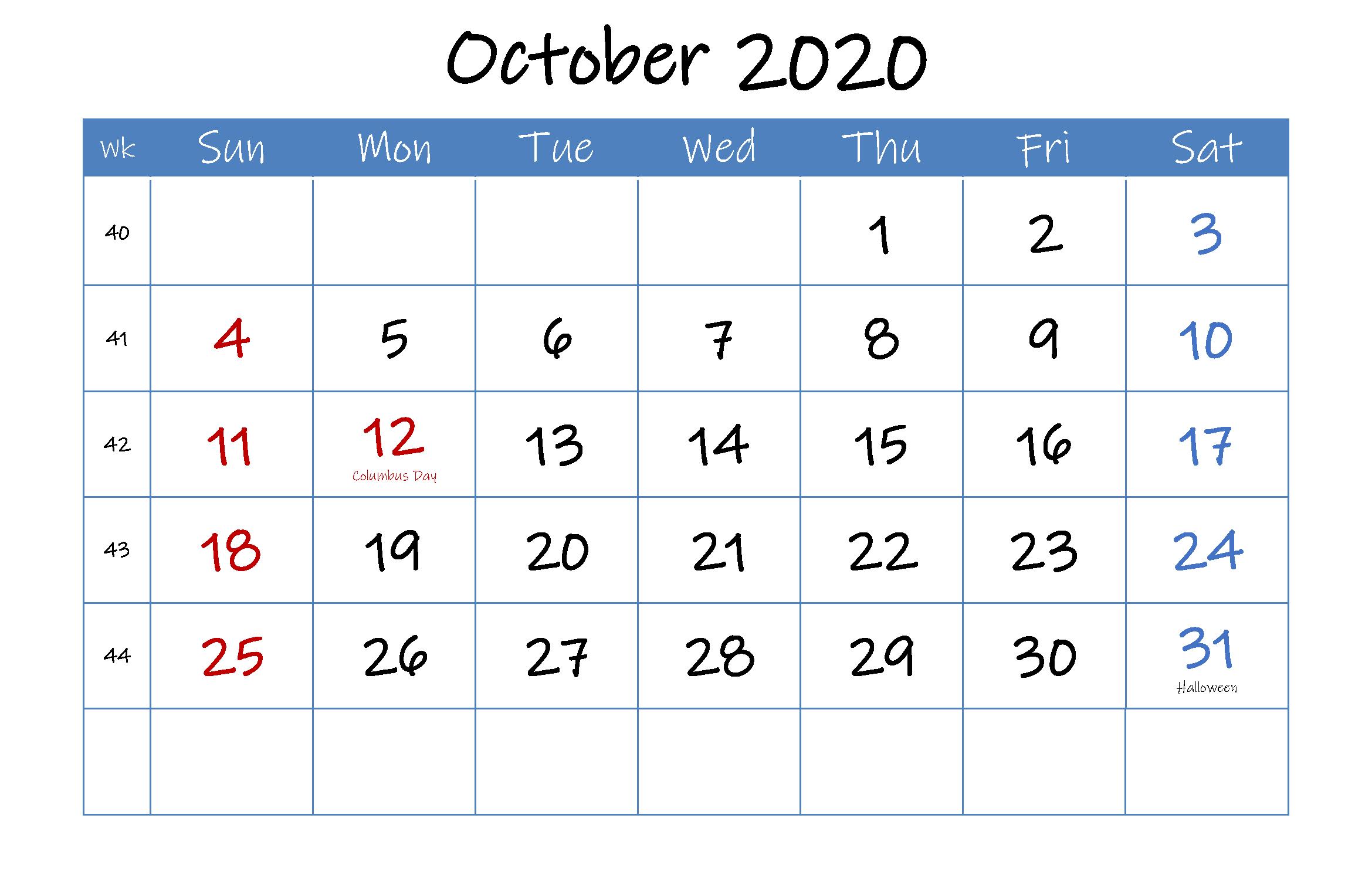 September 2020 Australia Holidays Calendar