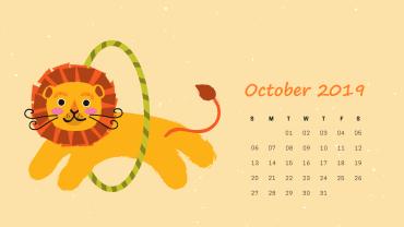 Cute October 2019 Calendar Background
