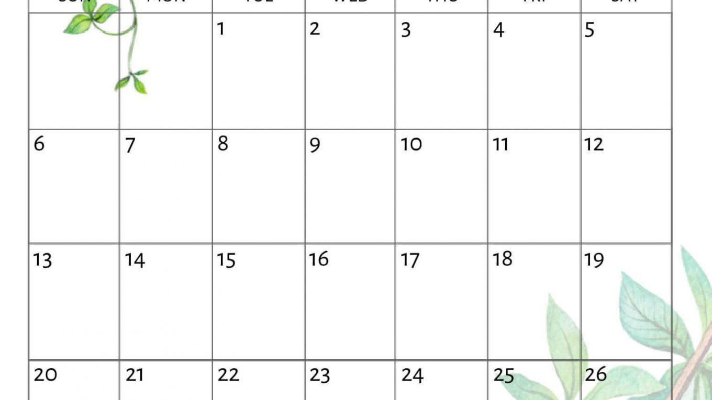 Cute October 2019 Calendar Template