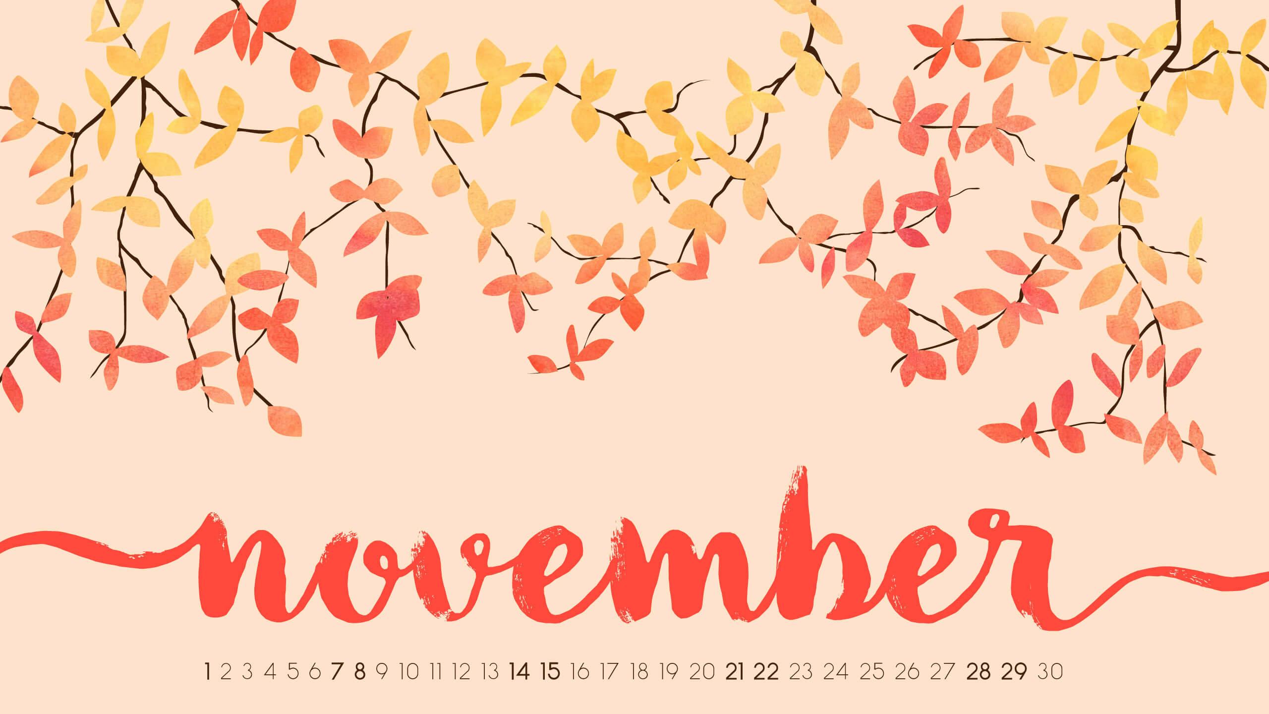 November 2020 Calendar HD Wallpaper