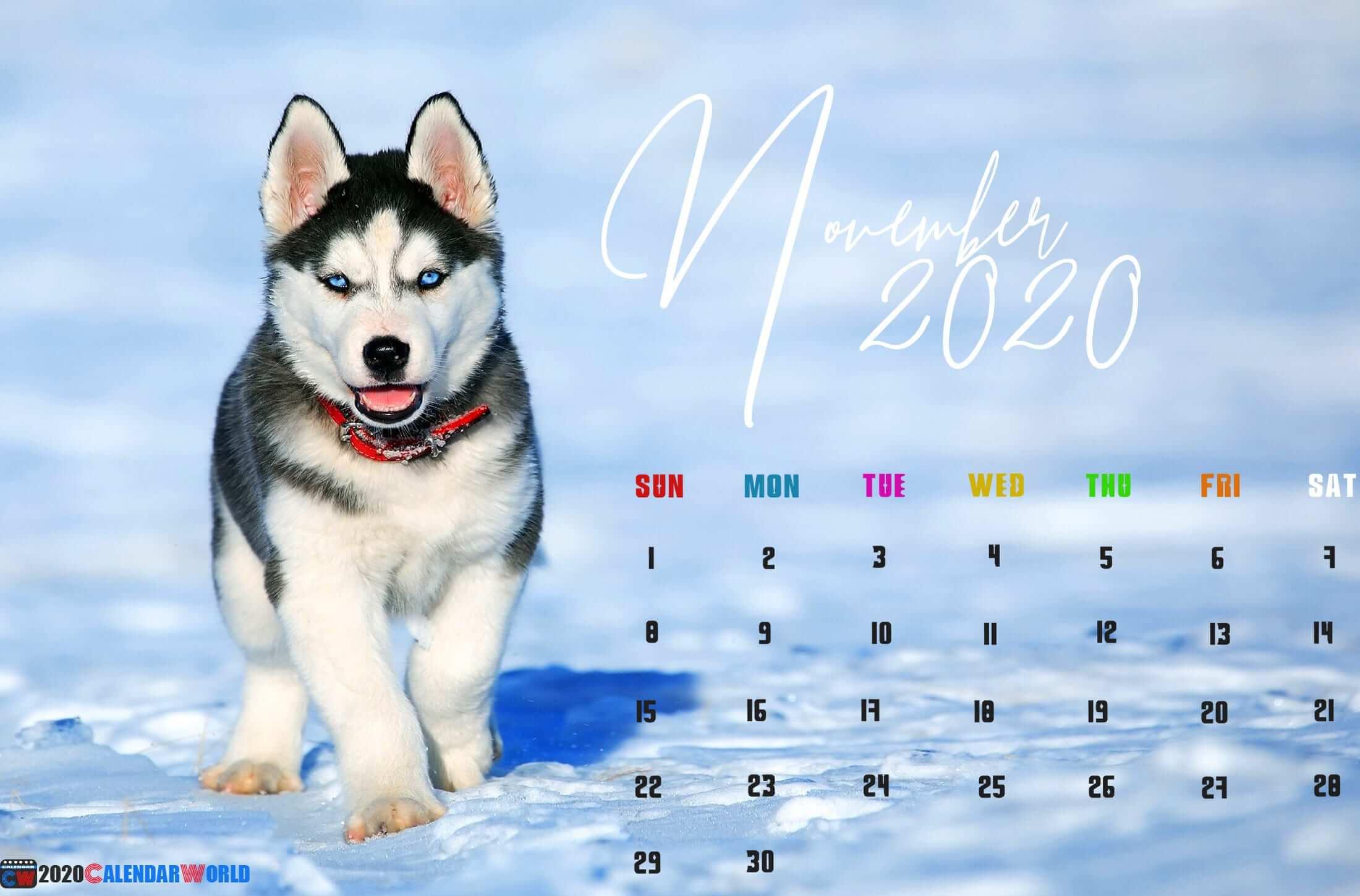 November 2020 Calendar Wallpaper for Desktop