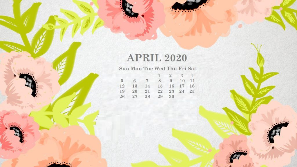 April 2020 Calendar Desktop Wallpaper