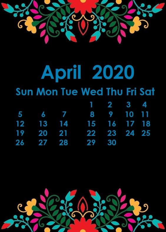 April 2020 iPhone Calendar Wallppaer