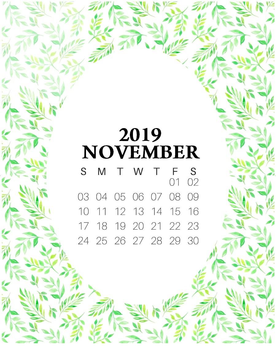 Latest November 2019 Floral Calendar