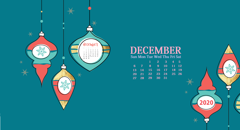 December 2020 Desktop Background Calendar