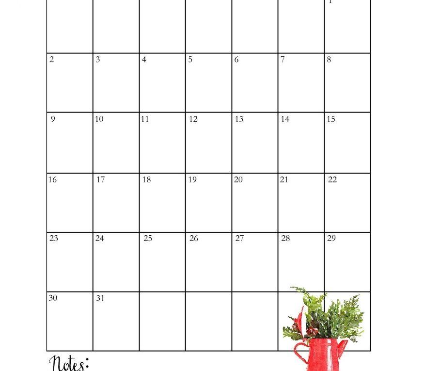 Floral December 2019 Template