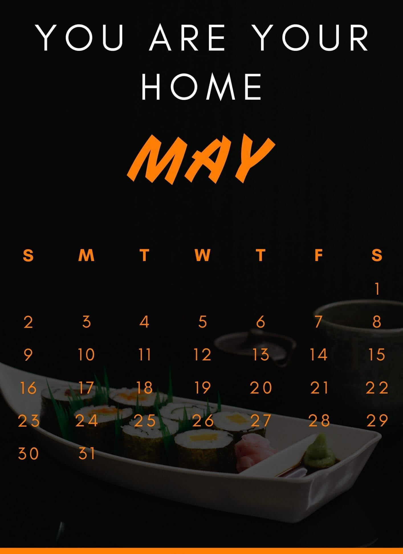 May 2021 Calendar with Quotes