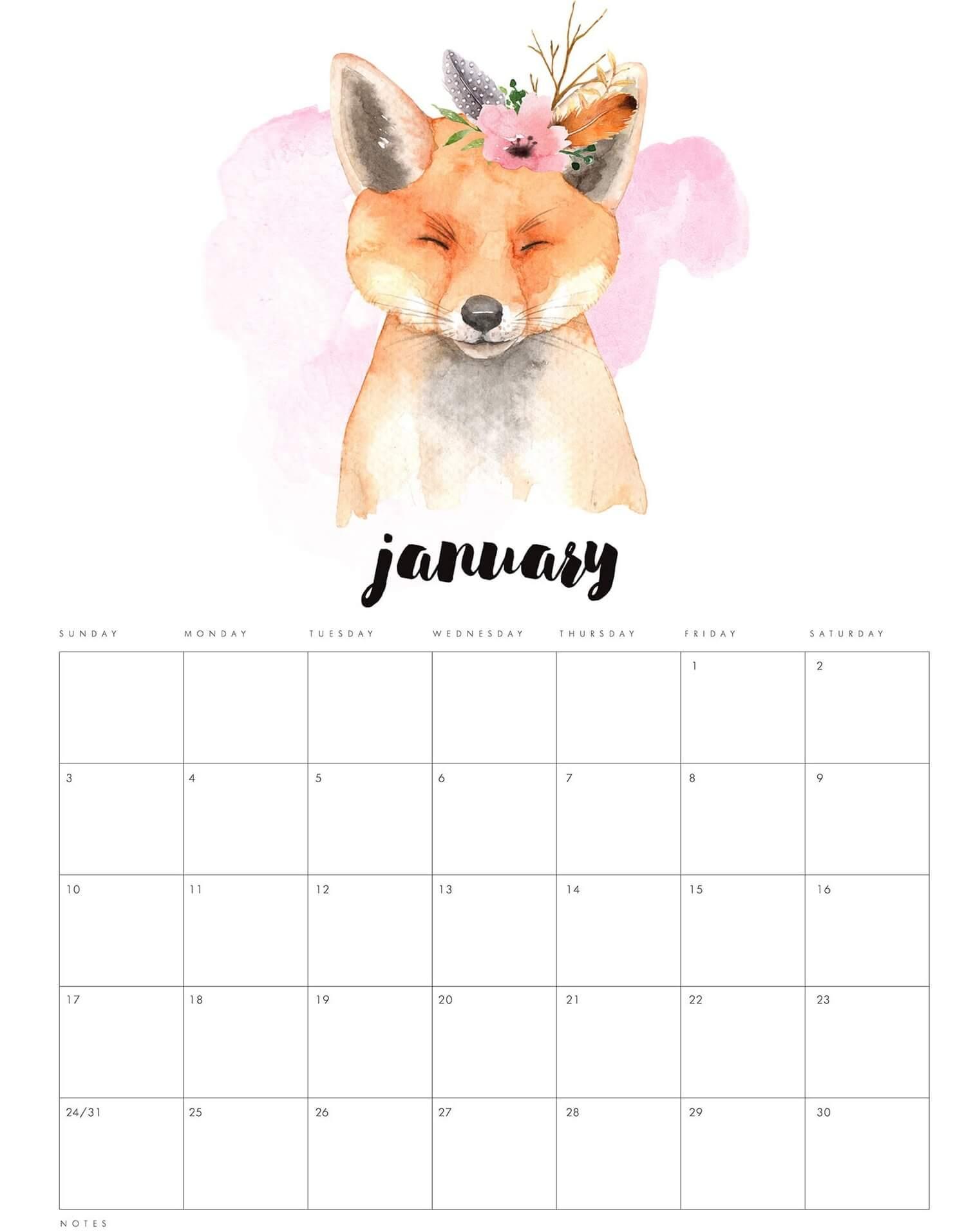 Online Calendar For January 2021