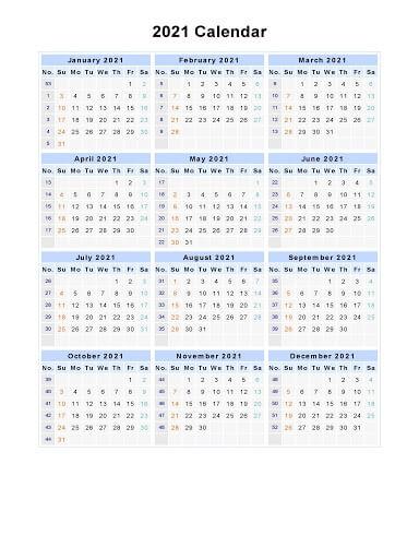 2021 Portrait Calendar