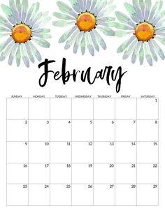 Floral February Calendar 2020