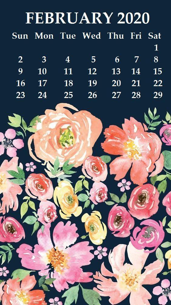 iPhone February 2020 Floral Calendar