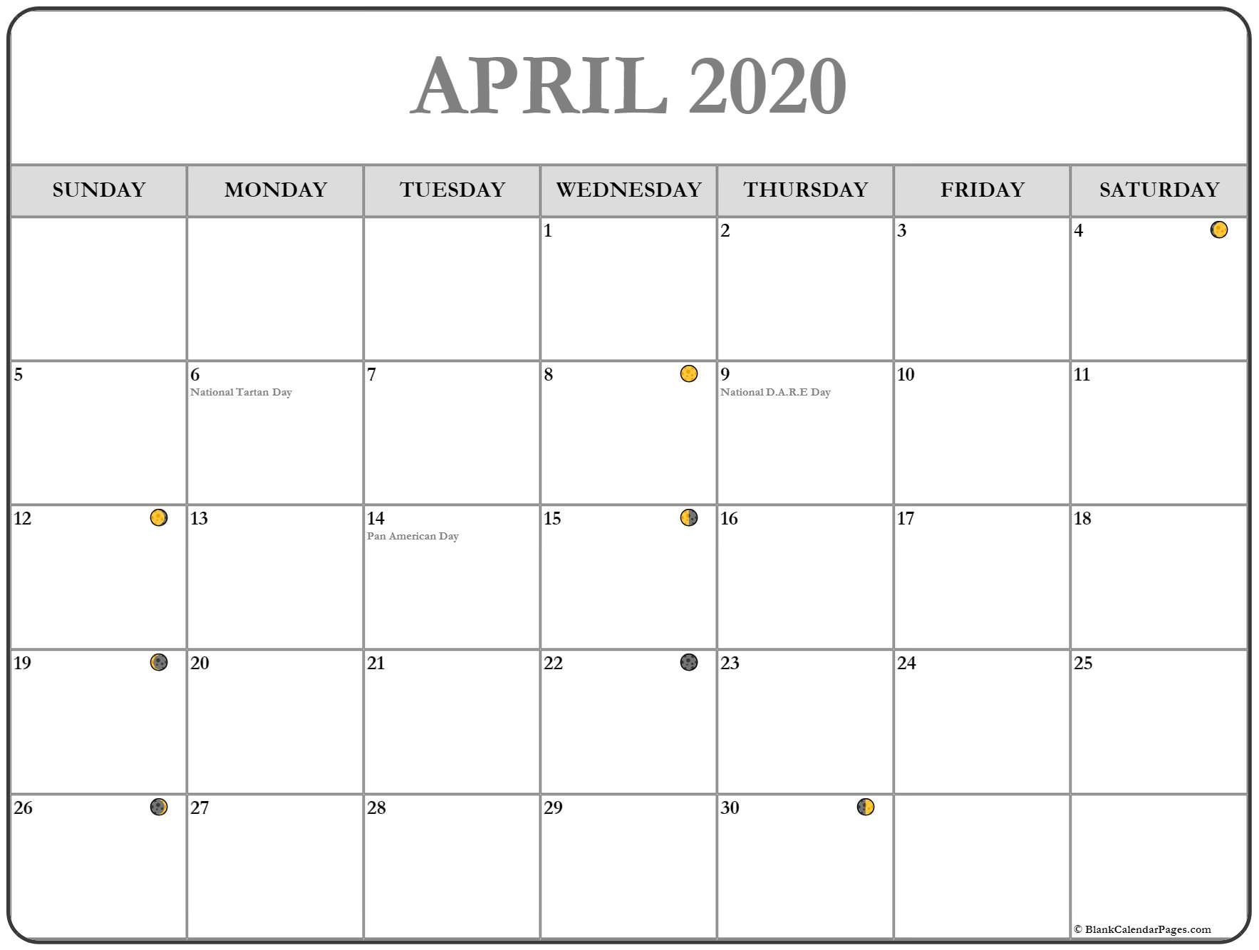 April 2020 Moon Calendar