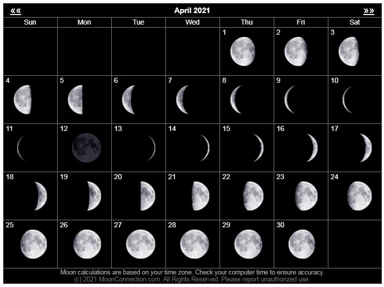 April 2021 Lunar Calendar
