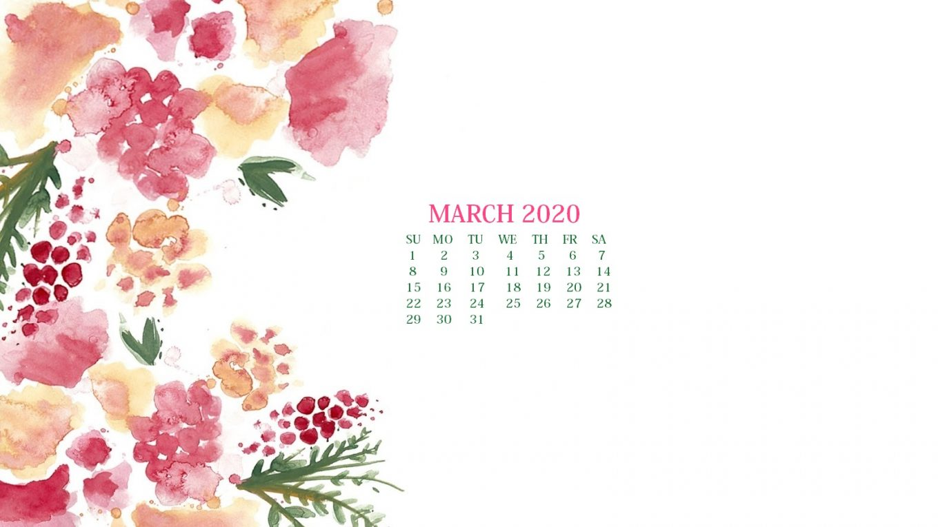 March 2020 Calendar Wallpaper Desktop And Iphone