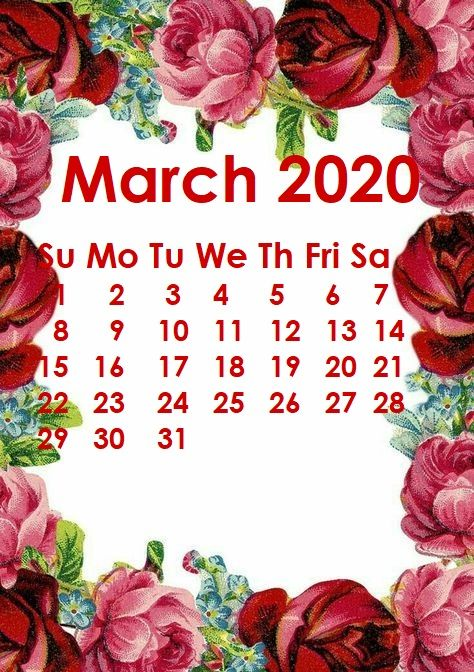 Floral March 2020 Calendar Wallpaper