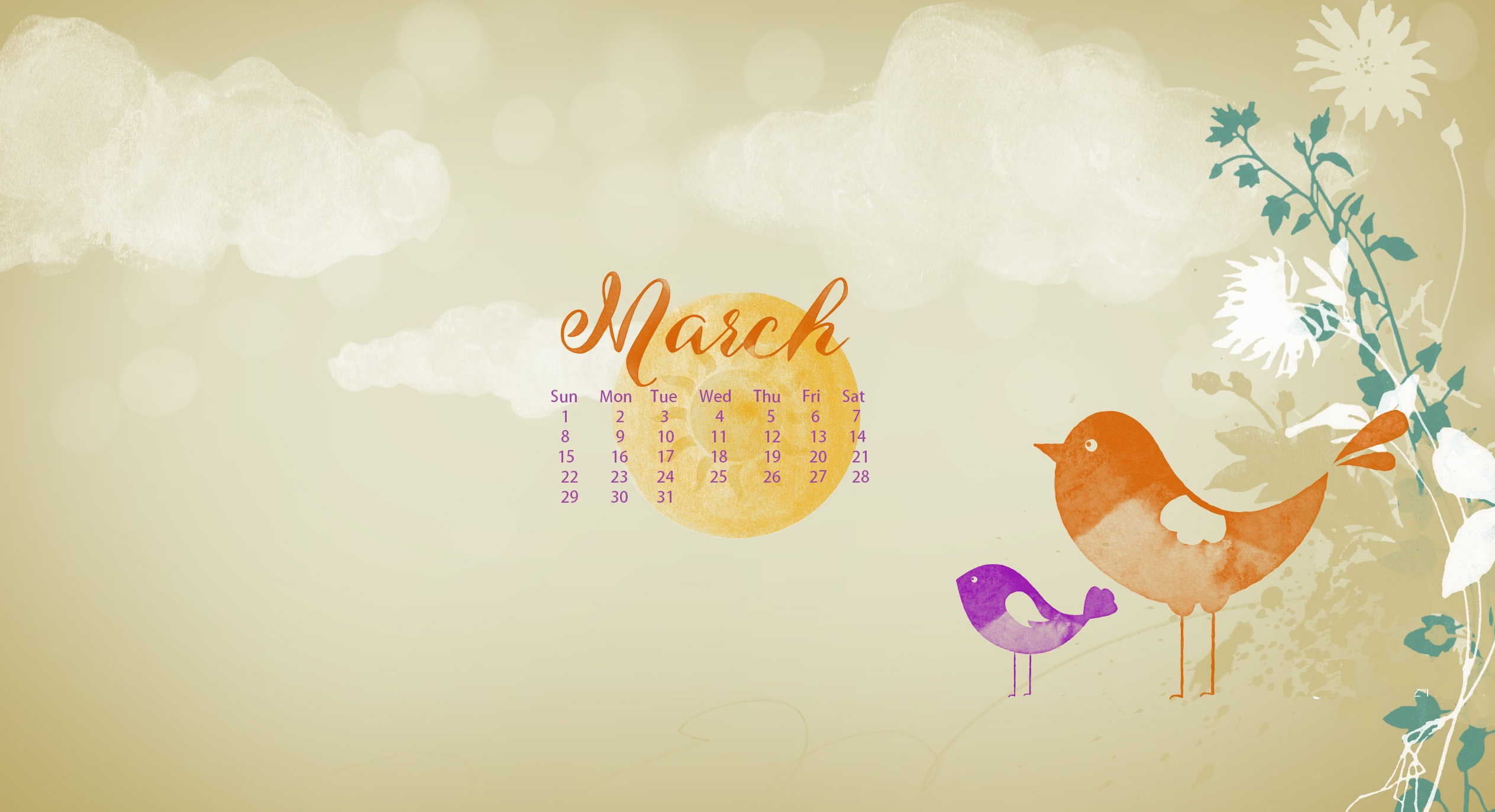 March 2020 Wallpaper Calendar