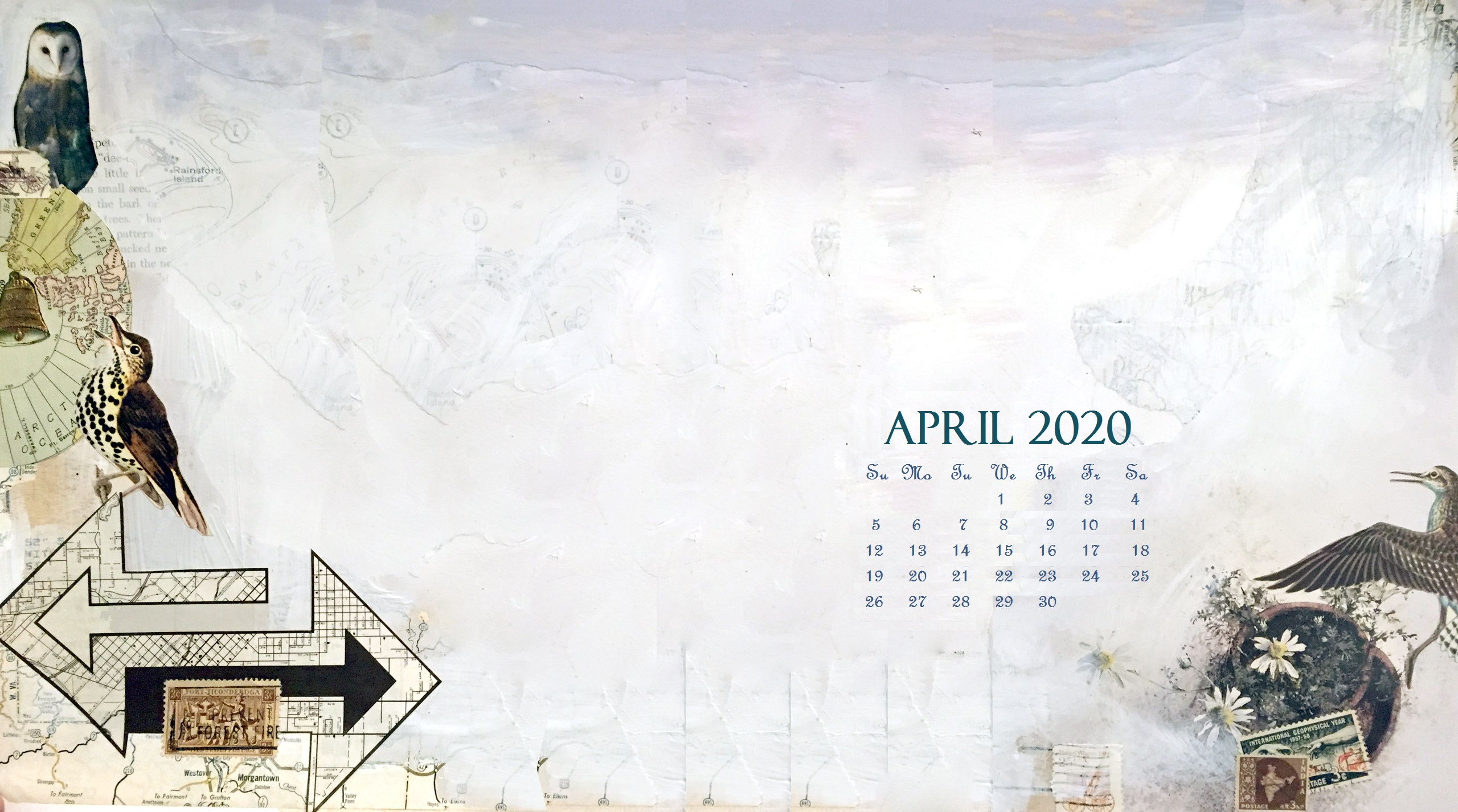 April 2020 Desktop Wallpaper Calendar