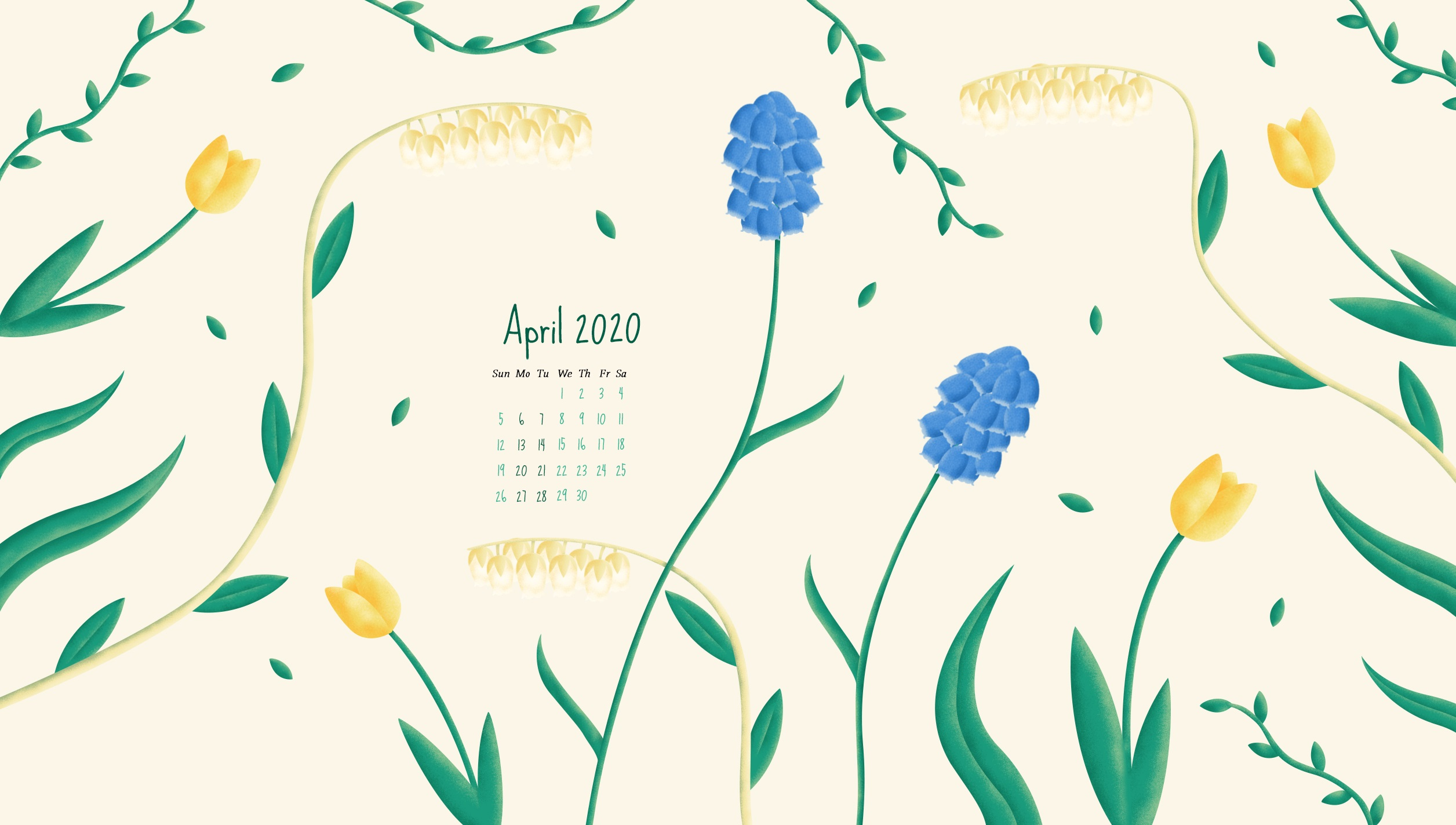 April 2020 HD Calendar Wallpaper