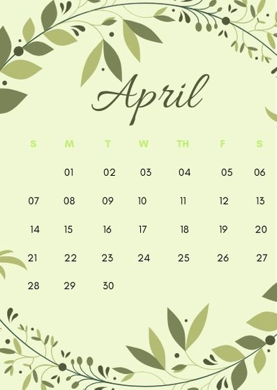April 2020 iPhone Wallpaper Calendar