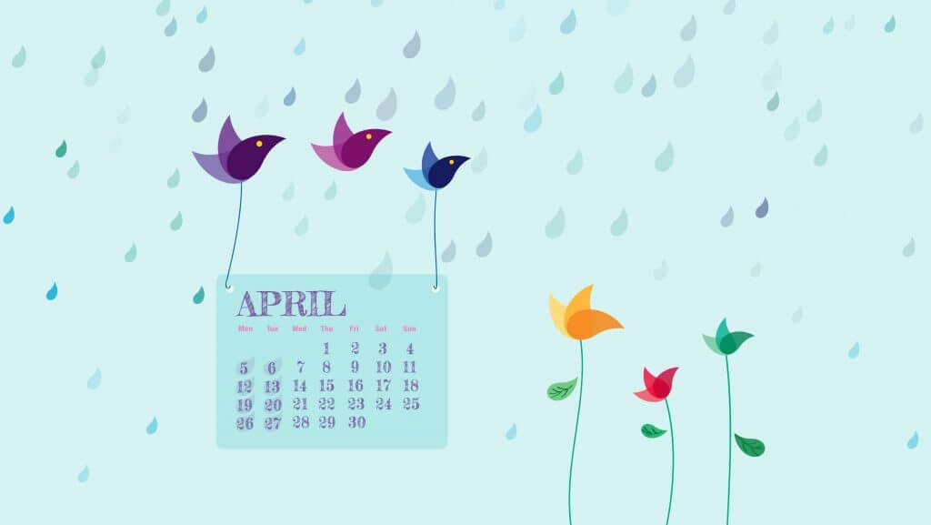 April 2021 Desktop Calendar Wallpaper