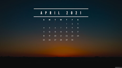 Desktop Calendar Wallpaper April 2021