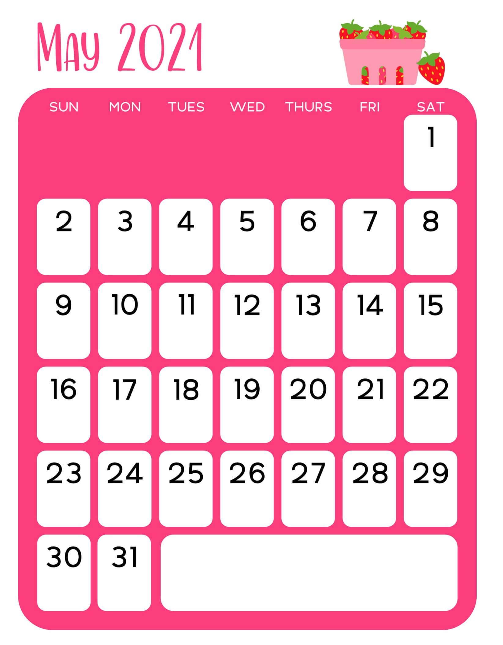 Floral May 2021 Wall Calendar