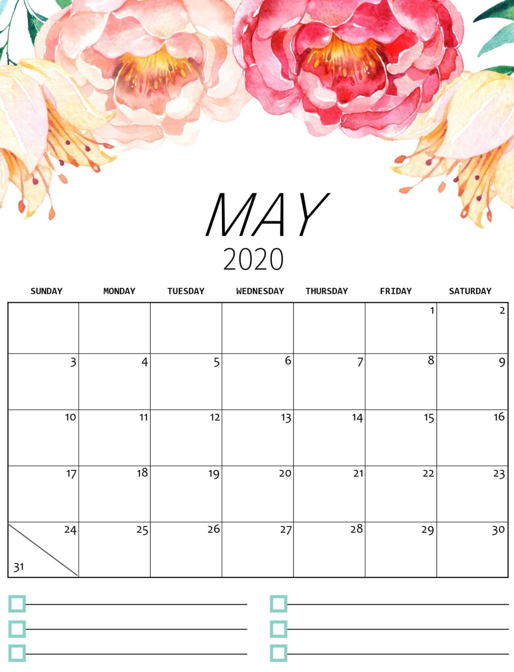 May 2020 Floral Calendar
