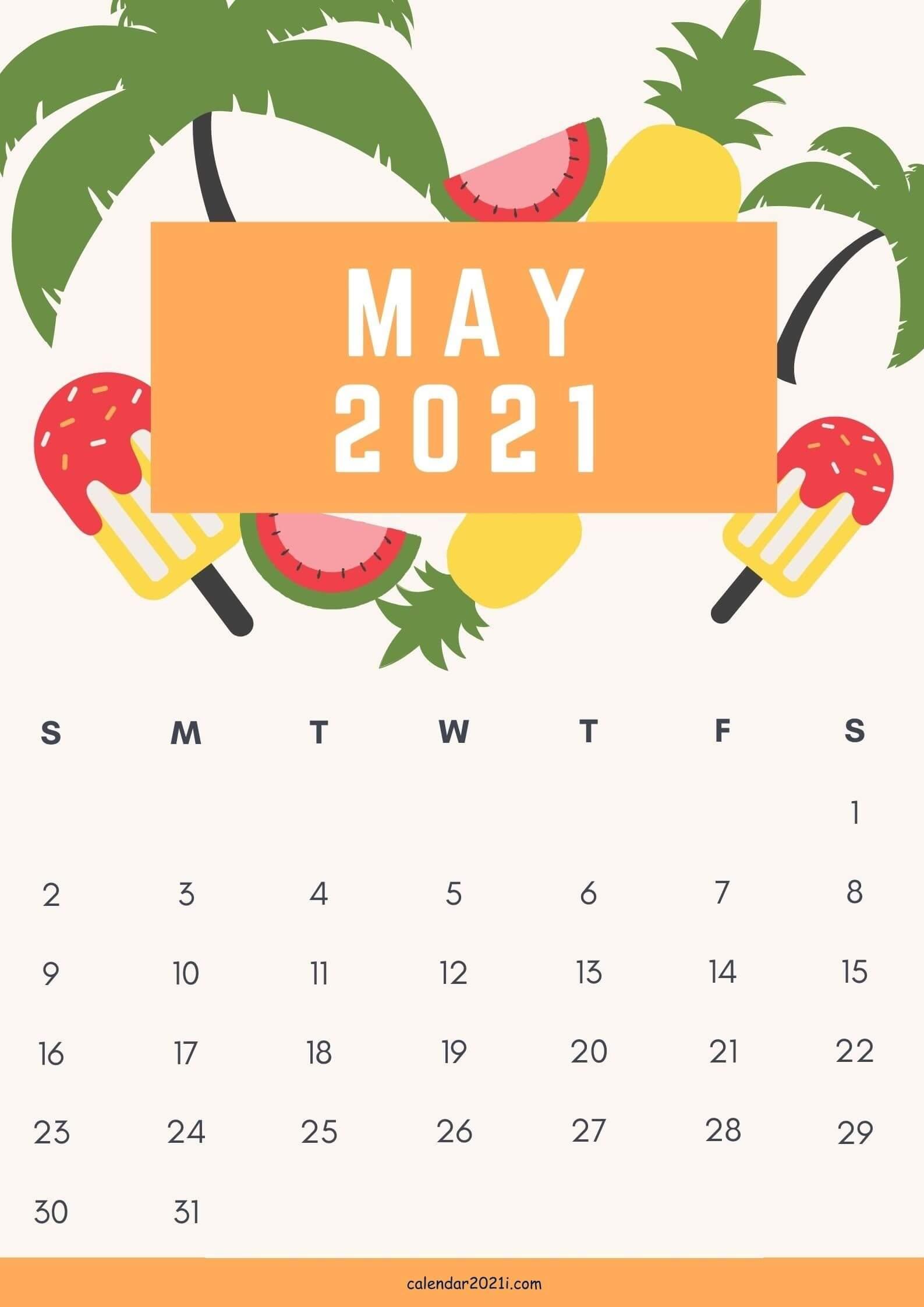 May 2021 iPhone Calendar Wallpaper