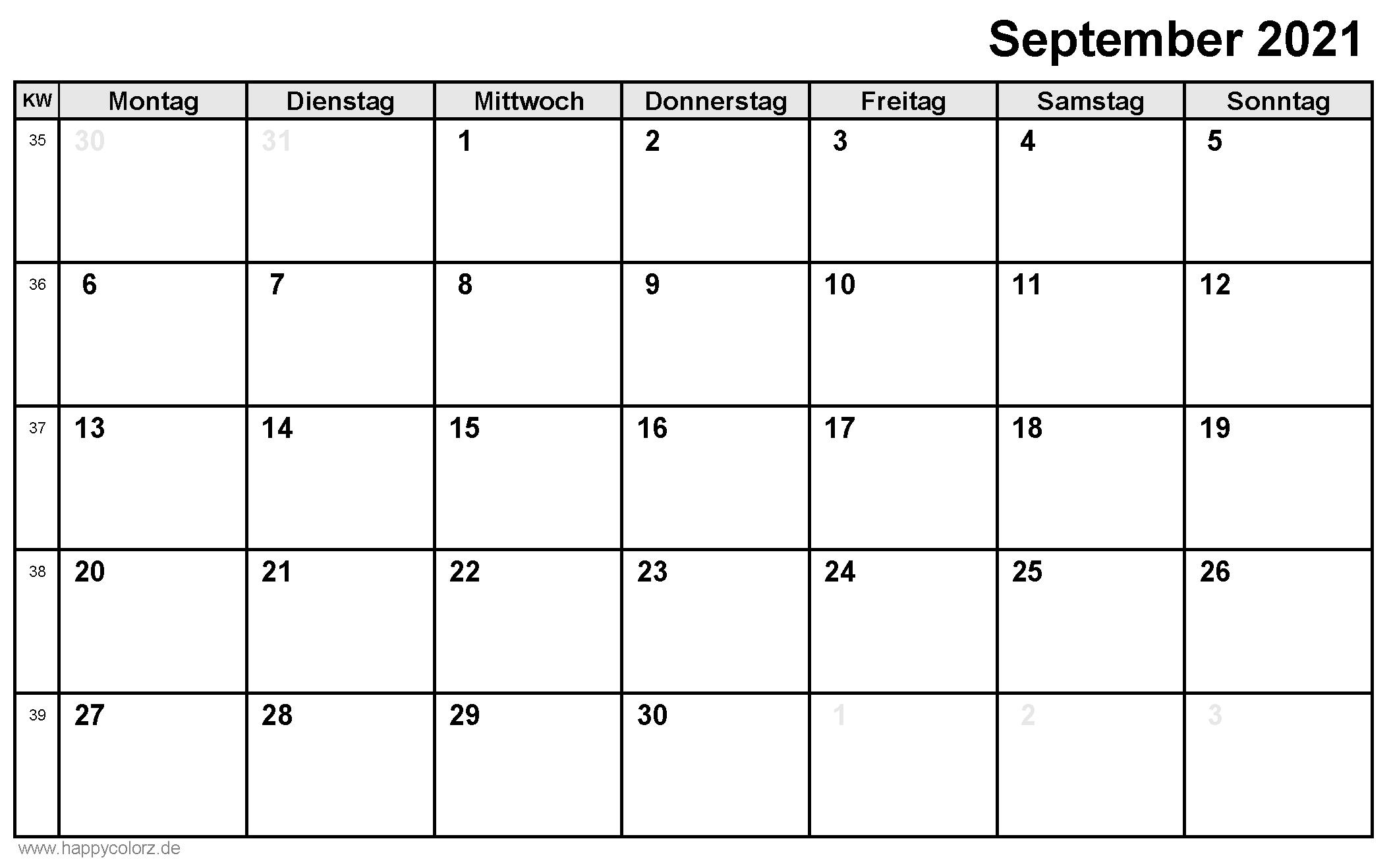 kalender september 2021 lengkap