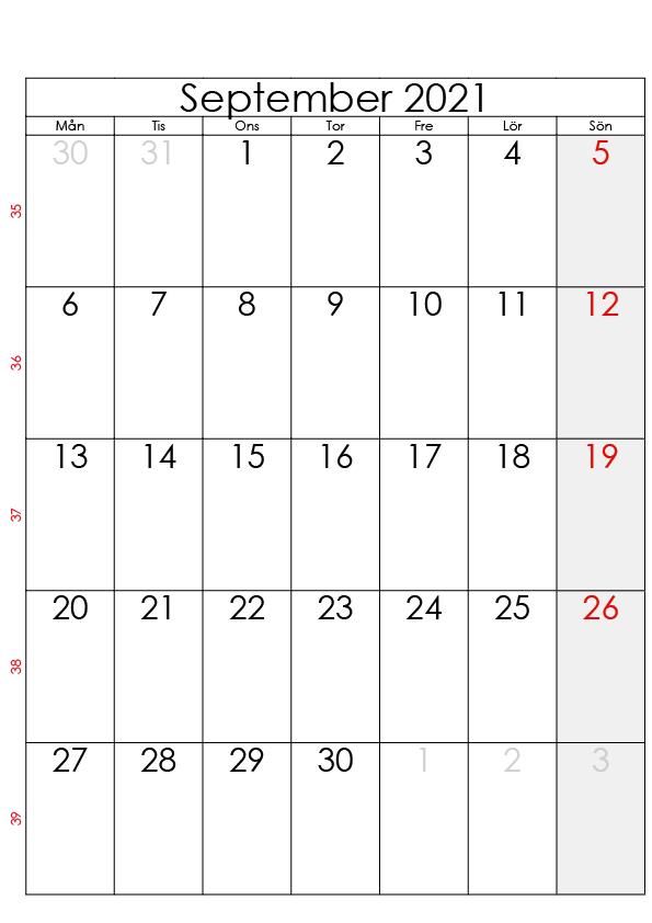 kalender september 2021 zum ausdrucken