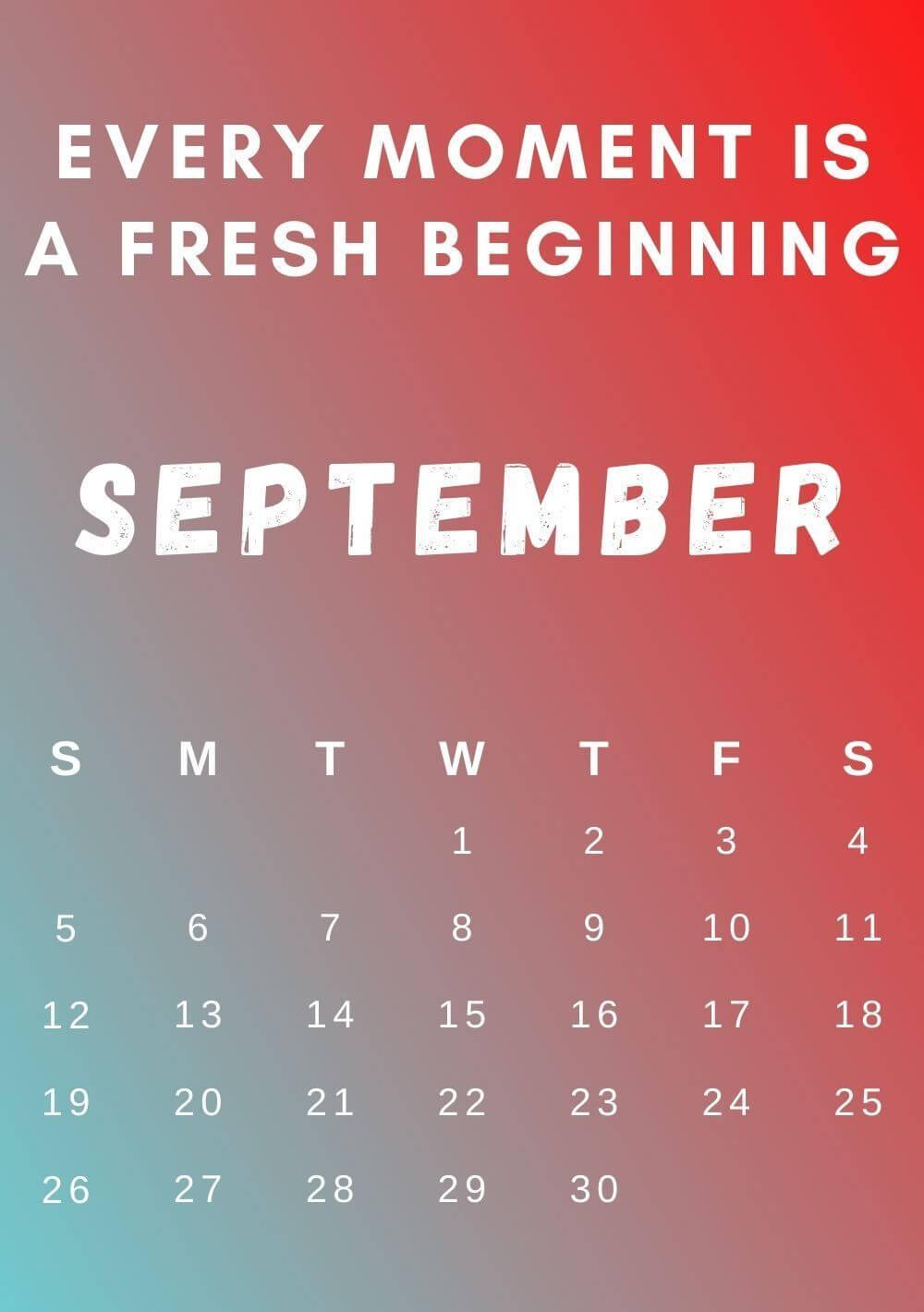 Inspirational September 2021 Calendar