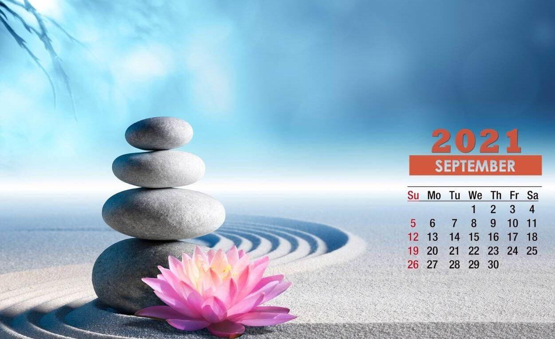 September 2021 Background Screensaver Calendar