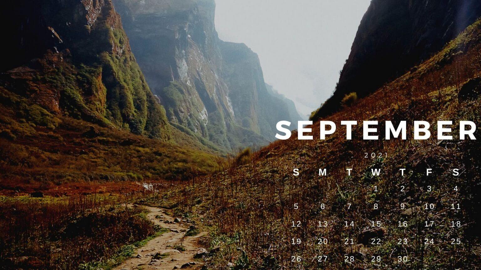 September 2021 Calendar HD Wallpaper