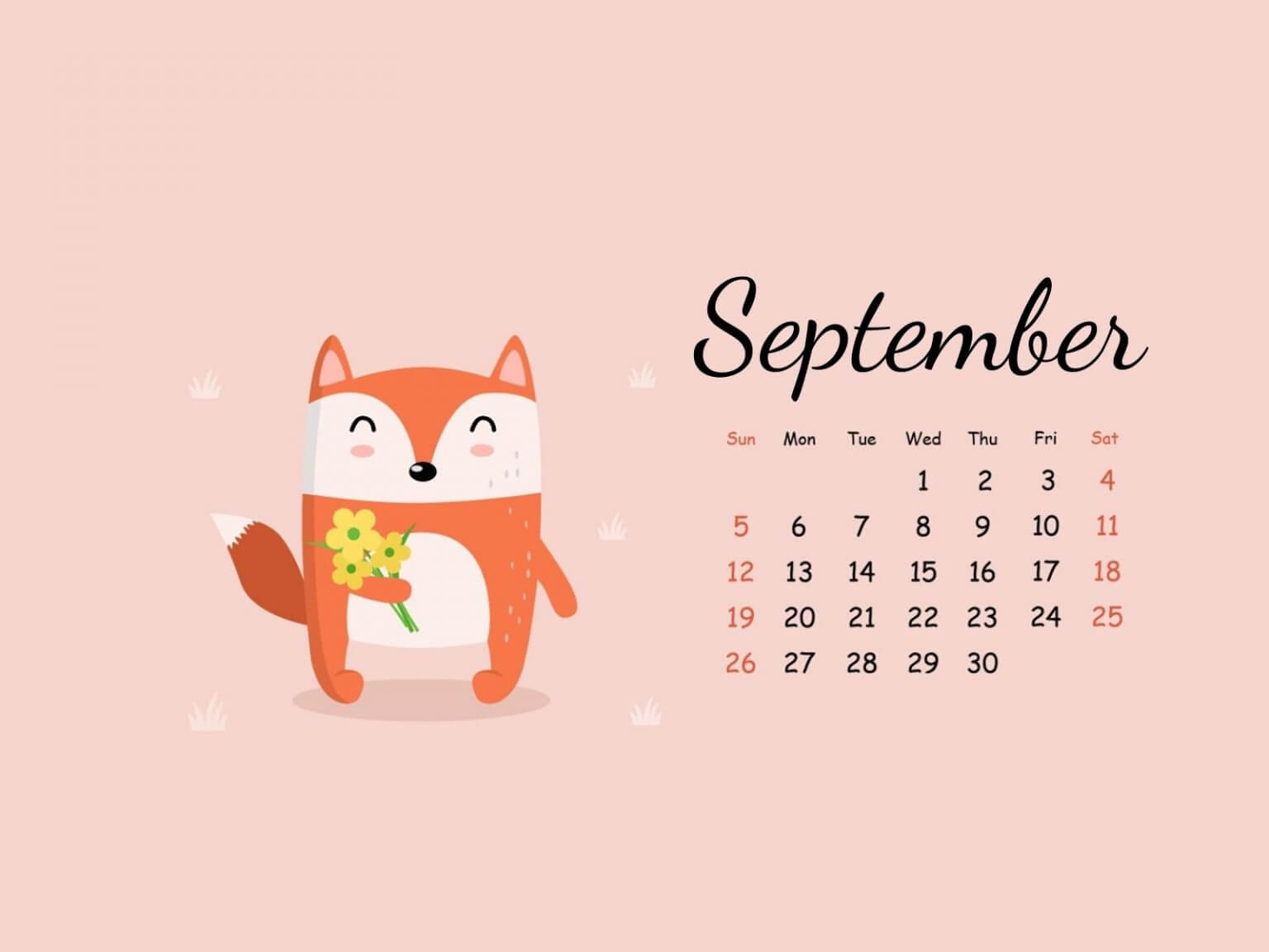 September 2021 Calendar Wallpaper