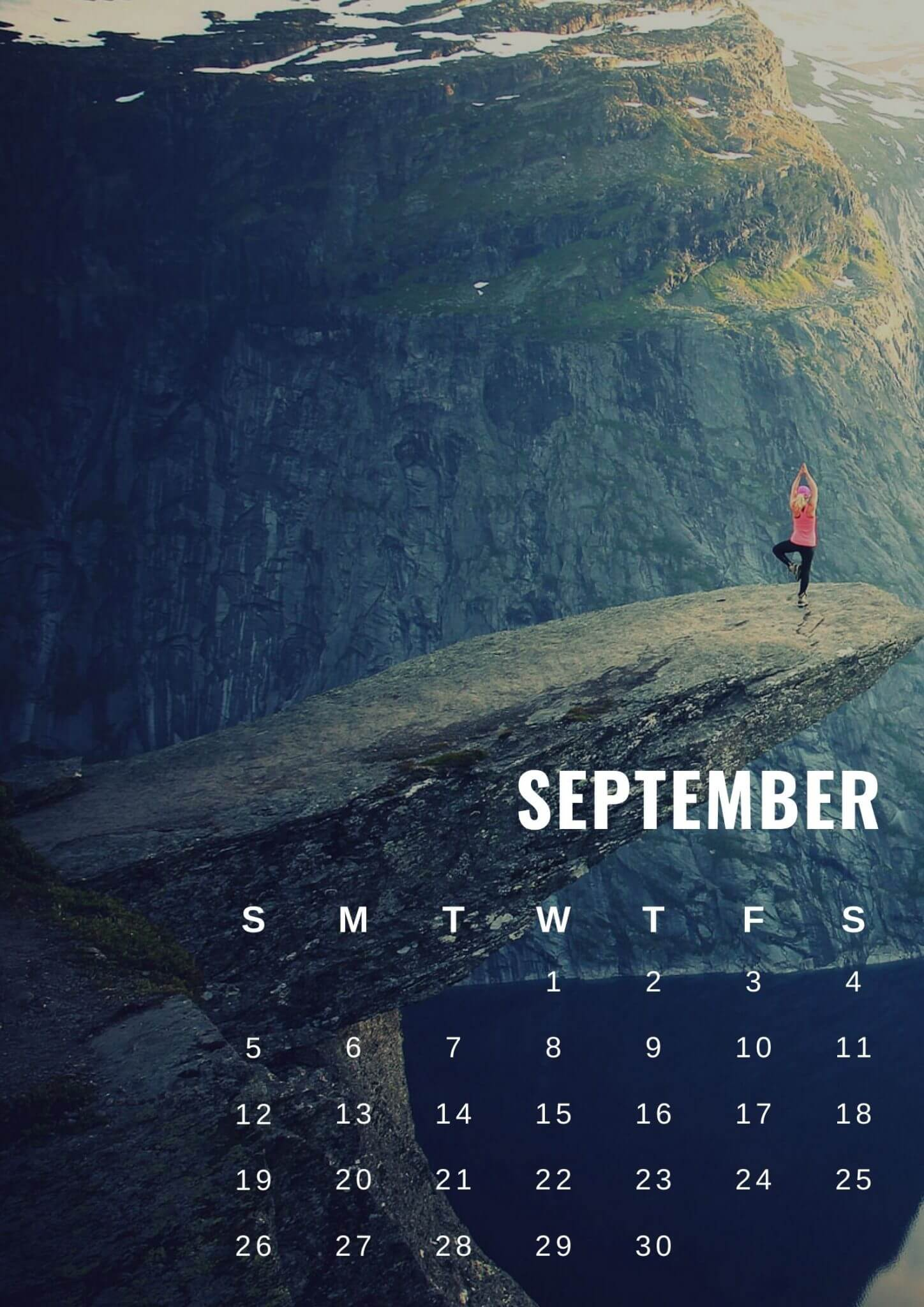 September 2021 Calendar Wallpaper for Mobile